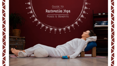 Photo of Restorative Yoga poses for neck and shoulder pain