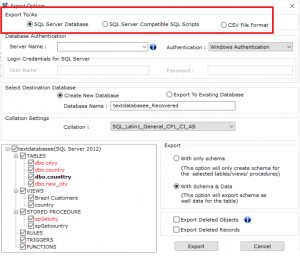 Restore Deleted Database Objects